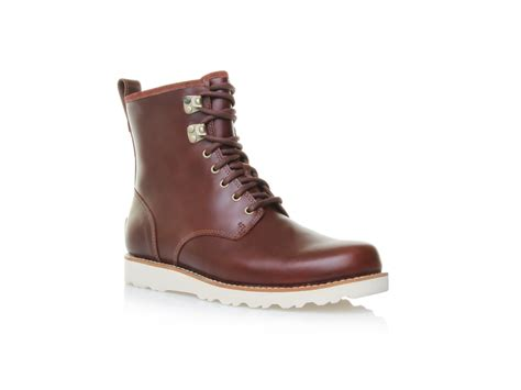 mens brown ugg boots ugg hannen boot in brown for cordovan lyst