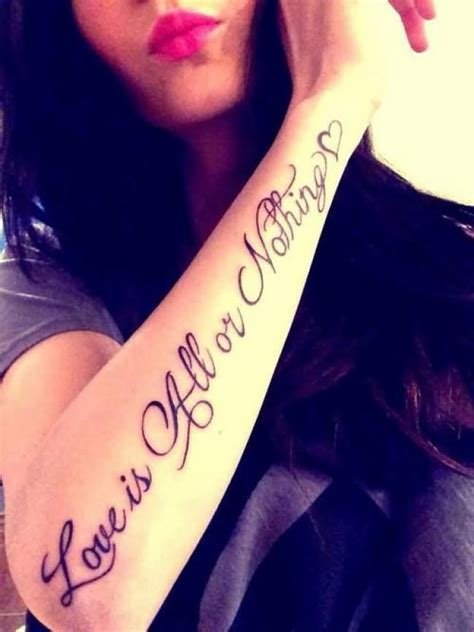 tattoo love is all 43 forearm word tattoos