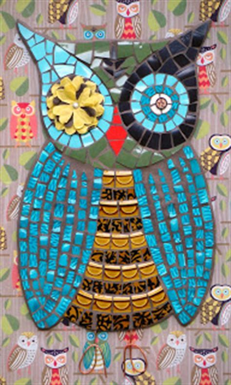 mosaic pattern owl curly q mosaics paper source owl mosaic giveaway winner