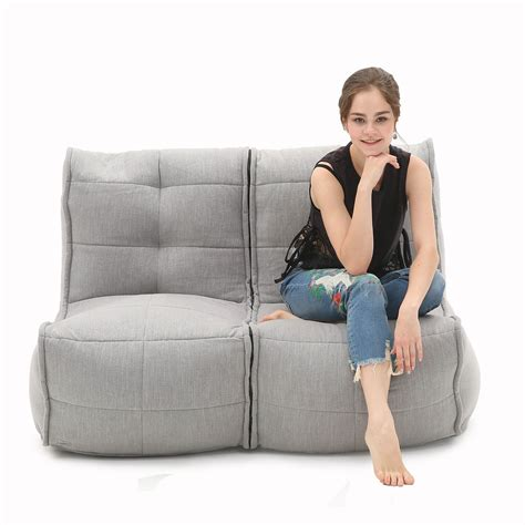 couch sack 2 seater grey sofa designer bean bag couch bean bag