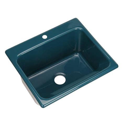 drop in utility sink kensington drop in acrylic 25 in 1 hole single bowl
