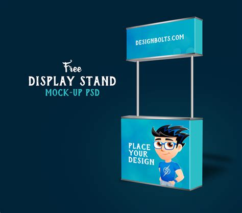 mock up your design here free trade show booth display stand mock up psd