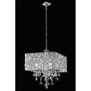 Square Chandelier Warehouse Of Tiffany 4 Light Square Crystal Chandelier