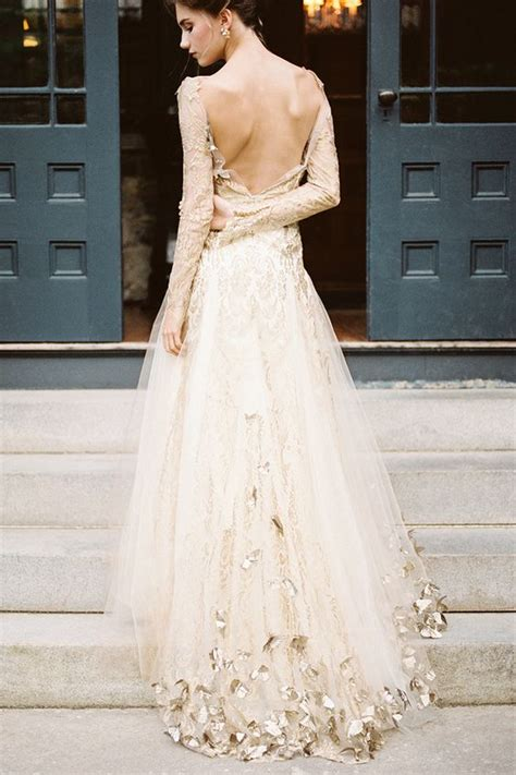stunning white gold wedding gown  step  glamour