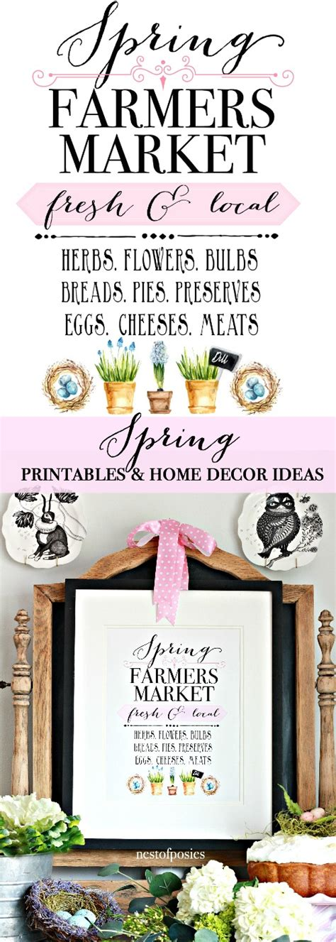 Printable Home Decor by Spring Printables And Spring Home Decor Ideas