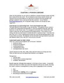 guidelines to crafting a winning resume pdf file