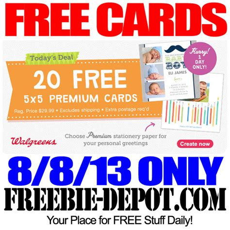 make personalized cards for free 20 free personalized greeting cards freebie depot
