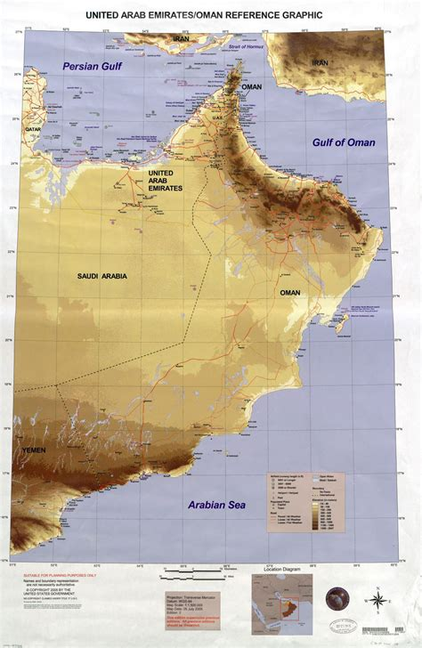 map uae and oman large scale detailed united arab emirates and oman