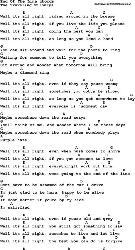 back number happy end chord song lyrics with guitar chords for end of the line learn
