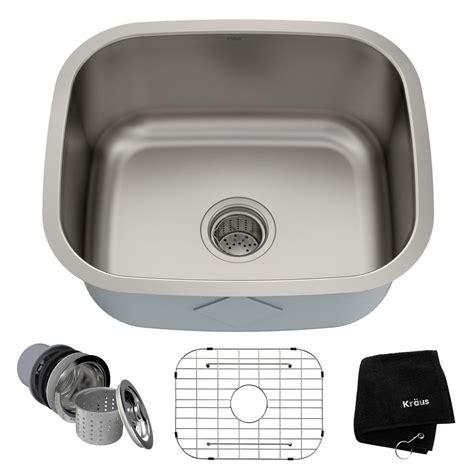 kraus single bowl undermount kitchen sink kraus premier undermount stainless steel 20 in single