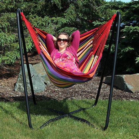 space saving swing sunnydaze hanging hammock chair swing with space saving