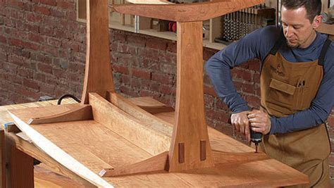 trestle table  modern appeal finewoodworking