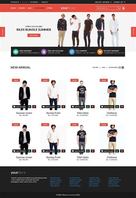 template toko online tokopedia slicing layout toko online responsive menggunakan