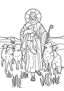 coloring page jesus the good shepherd gallery