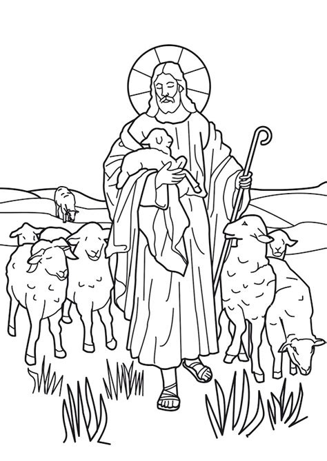 Jesus The Shepherd Coloring Pages coloring pages the o jays and jesus on