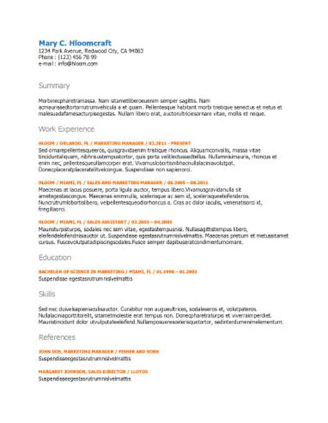 resume edge free resume templates network net search for