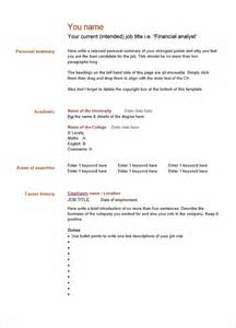 Free Blank Resume Template by Blank Resume Template