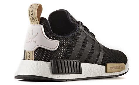 adidas nmd black gold  womens sneaker bar detroit