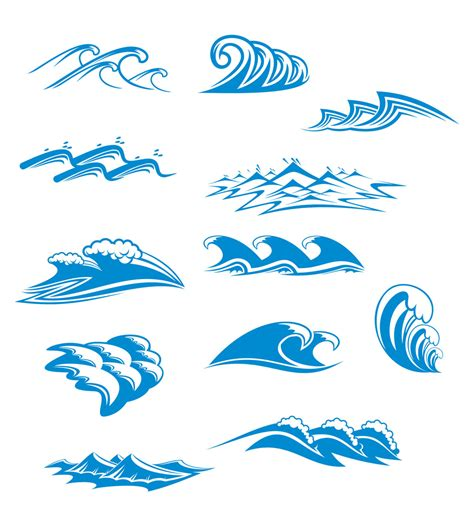 wave pattern vector ai blue waves graphics vector free vector 4vector