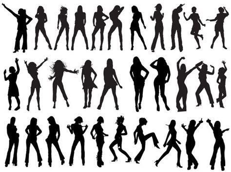free silhouette images 200 free vector dancing girls silhouettes