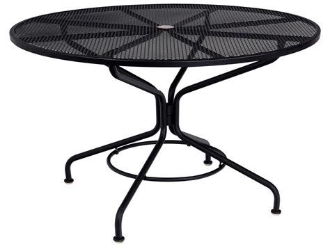 round wrought iron patio woodard mesh wrought iron 48 round with umbrella