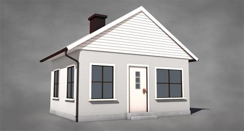 simple house  model cgstudio