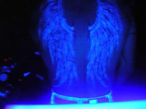 glow in the dark tattoo wings wings black light tattoo
