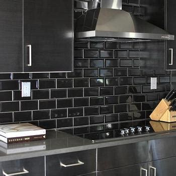 black subway tile kitchen backsplash kitchen subway tiles design ideas