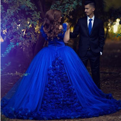 Gowns For Weddings by Royal Blue Gown Wedding Dresses 2017 Flower Wedding
