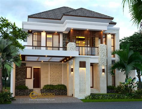 desain rumah mewah  lantai  jakarta jasa arsitek