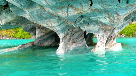 wallpaper marble caves chile ocean  nature