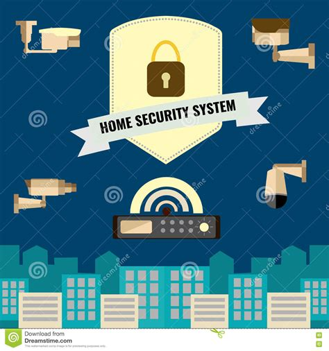 design home security system security system design stock illustration cartoondealer