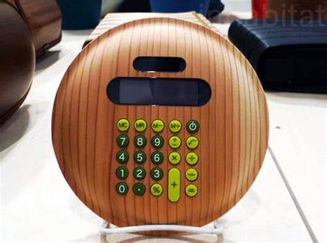 Takumi Shimamuras Wooden Calculator Just In Time For Tax Season by Sustainable Number Crunchers Monacca Wood Calculator