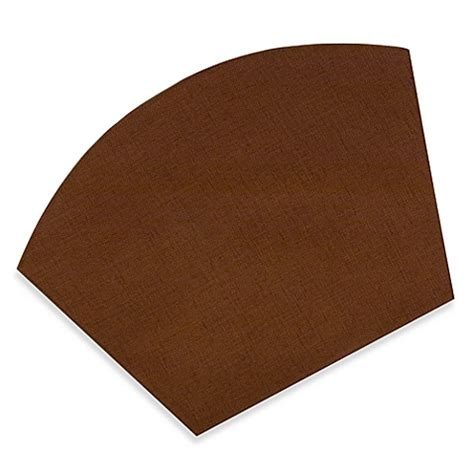 buy basketweave wedge placemat in bark from bed bath beyond