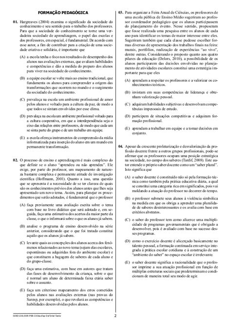 PROVA OBJETIVA EDUCAÇÃO BÁSICA II- Educação Especial