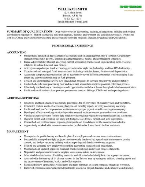 Accountant Resume Exles by Accounting Resume Exles Exles Of Resumes