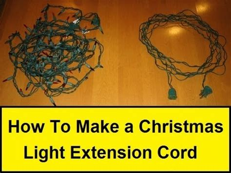 how to make a christmas light extension cord howtolou com