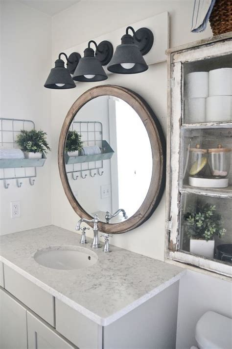 diy farmhouse bathroom vanity light fixture  vanity