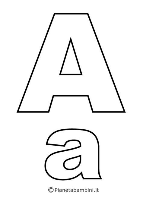 disegnare con le lettere le vocali lettera o da colorare