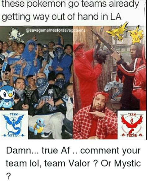 Team Valor Memes - these pokemon go teams already getting way out of hand in la savagememesforsavageteens team damn