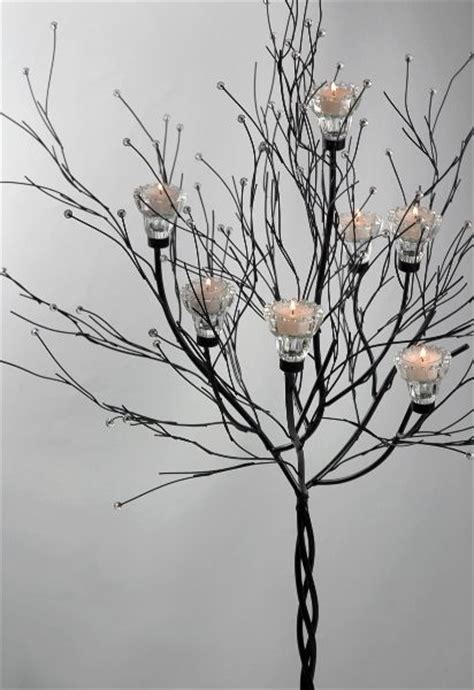 candle tree black 5ft with 7 candleholders candles