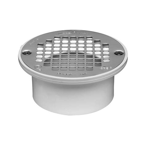 oatey 4 in pvc snap in general purpose floor drain with 5 in strainer for pvc piping 43583