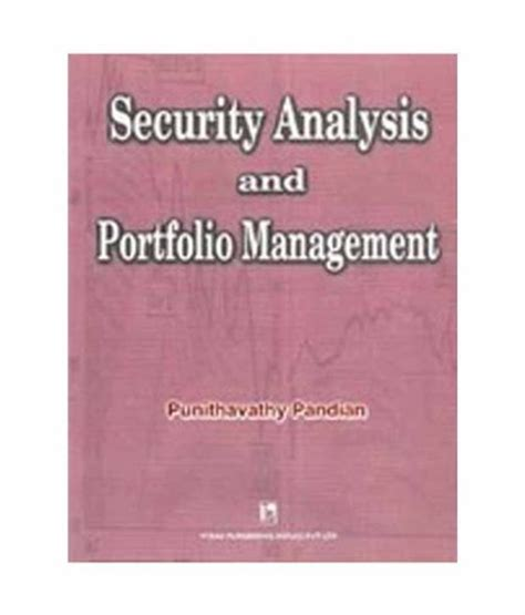 security analysis security analysis and portfolio management 9788125910848 slugbooks
