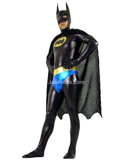 Batman Spandex black blue and yellow batman spandex costume salelolita