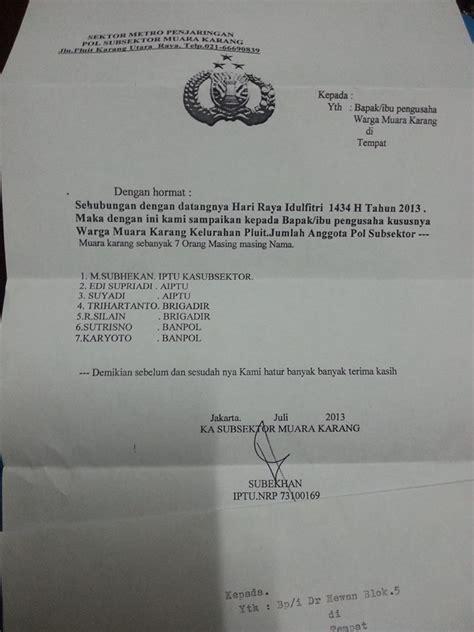 polisi minta thr lebaran dengan surat resmi om polisi
