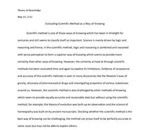 Scientific Essay Sample Research Paper Sciencentific Method Writefiction581 Web