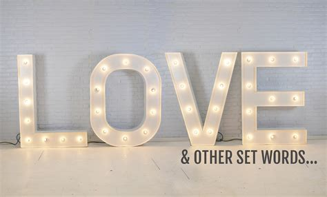 marry me light up letters light up letters hire vowed amazed