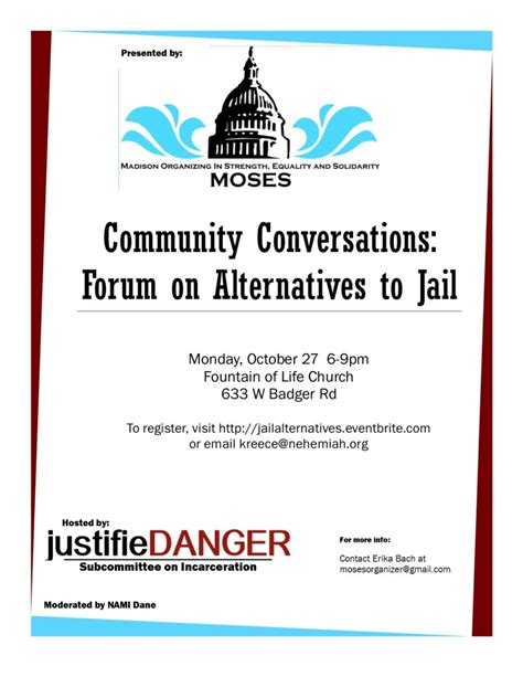 join us monday oct 27 to talk about alternative to