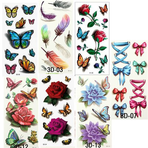 cute temporary tattoos aliexpress buy 7pcs beautiful water transfer