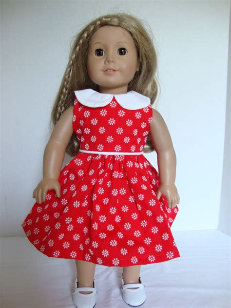 American Handmade Doll Clothes - handmade american doll clothes dress with white